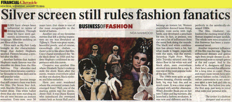 indian-fashion-designer-nida-mahmood-featured-in-financial-chronicle-13-january-2010