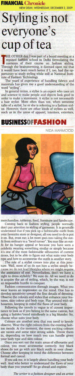 indian-fashion-designer-nida-mahmood-featured-in-financial-chronicle-2-december-2009