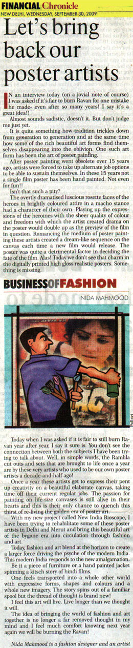 indian-fashion-designer-nida-mahmood-featured-in-financial-chronicle-30-september-2009