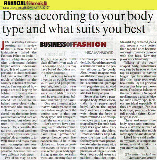 indian-fashion-designer-nida-mahmood-featured-in-financial-chronicle-7-july-2010