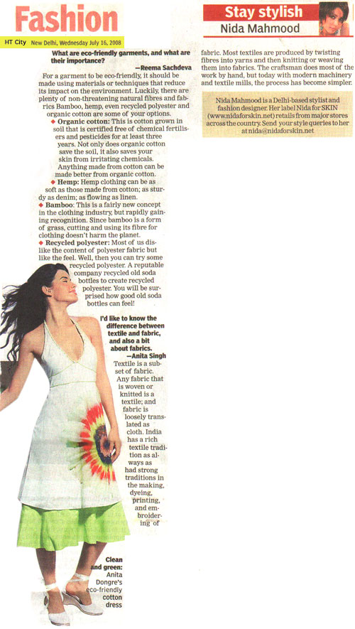 indian-fashion-designer-nida-mahmood-featured-in-HT-City-16-july-2008