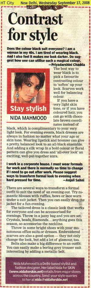 indian-fashion-designer-nida-mahmood-featured-in-HT-City-17-september-2008
