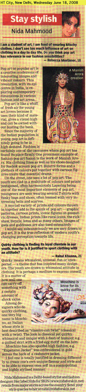 indian-fashion-designer-nida-mahmood-featured-in-HT-City-18-june-2008