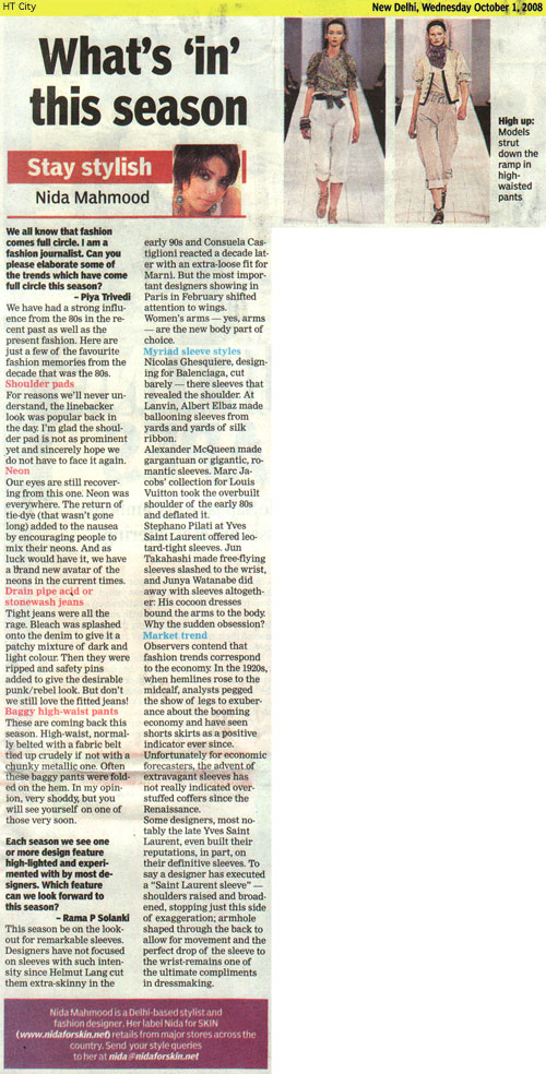 indian-fashion-designer-nida-mahmood-featured-in-HT-City-1-october-2008