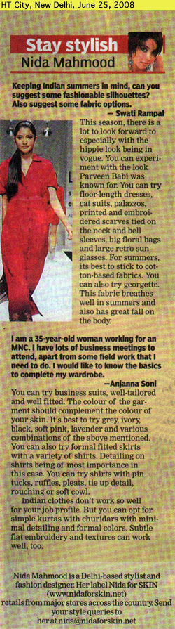 indian-fashion-designer-nida-mahmood-featured-in-HT-City-25-june-2008