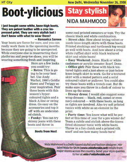 indian-fashion-designer-nida-mahmood-featured-in-HT-City-26-november-2008