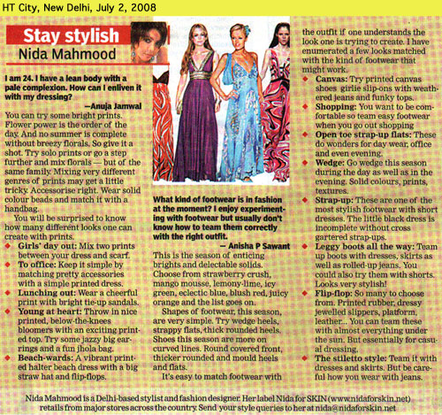 indian-fashion-designer-nida-mahmood-featured-in-HT-City-2-july-2008