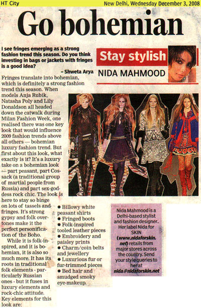 indian-fashion-designer-nida-mahmood-featured-in-HT-City-3-December-2008