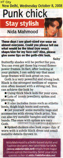 indian-fashion-designer-nida-mahmood-featured-in-HT-City-8-october-2008