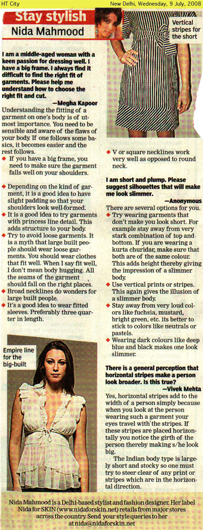 indian-fashion-designer-nida-mahmood-featured-in-HT-City-9-july-2008