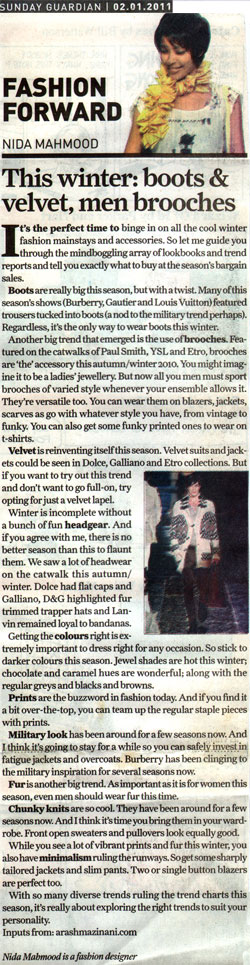 indian-fashion-designer-nida-mahmood-featured-in-Sunday-Guardian-2-january-2011