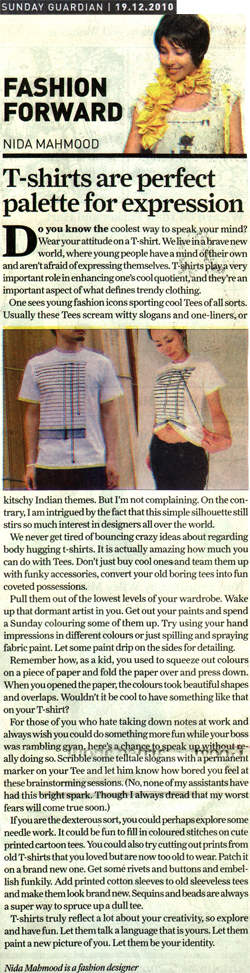 indian-fashion-designer-nida-mahmood-featured-in-Sunday-Guardian-19-december-2010