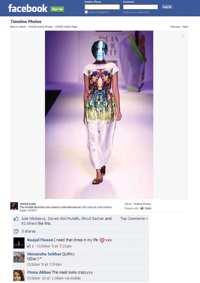indian-fashion-designer-nida-mahmood-featured-in-facebook-Vogue-india-for-bombay-bioscope
