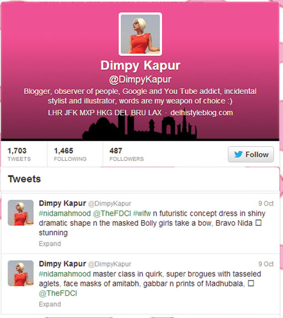 indian-fashion-designer-nida-mahmood-featured-in-dimpy-kapur-twitter-for-bombay-bioscope
