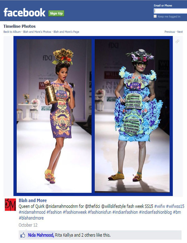 indian-fashion-designer-nida-mahmood-featured-on-blah-and-more-facebook-fan-page