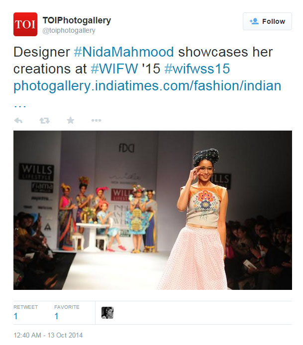 indian-fashion-designer-nida-mahmood-featured-on-TOIPhotogallery-twitter