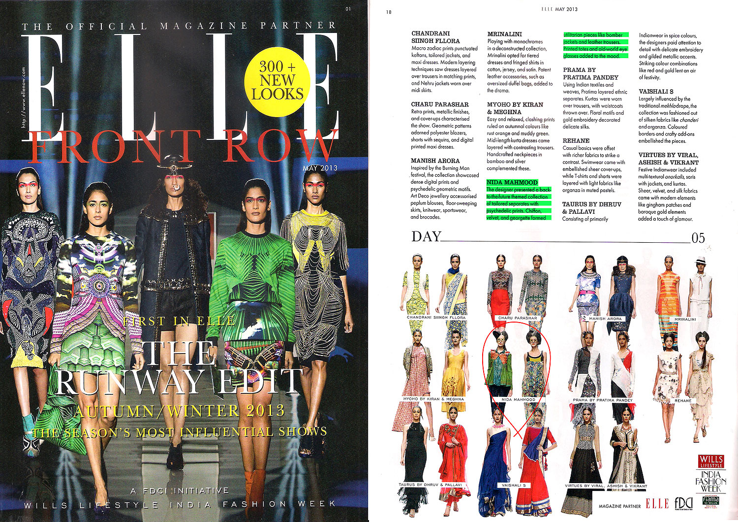 indian-fashion-designer-nida-mahmood-featured-in-Elle-front-row-magazine-for-the-adventures-of-capt-must-qalandar