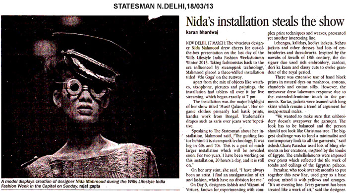 indian-fashion-designer-nida-mahmood-featured-in-statesman-for-the-adventures-of-capt-must-qalandar