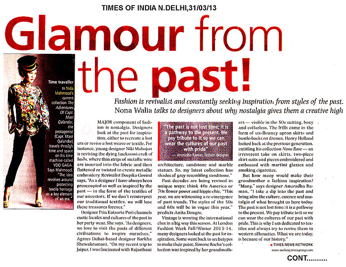indian-fashion-designer-nida-mahmood-featured-in-Times-News-Network-Article-for-the-adventures-of-capt-must-qalandar