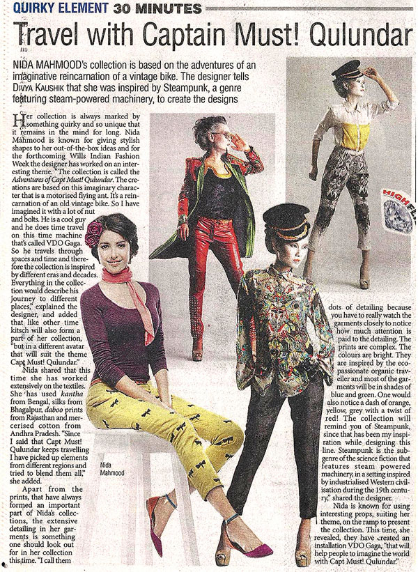 indian-fashion-designer-nida-mahmood-featured-in-The-Pioneer-march-2013-for-the-adventures-of-capt-must-qalandar