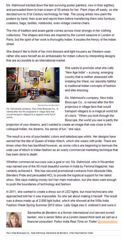 indian-fashion-designer-nida-mahmood-featured-in-Wall-Street-Journal-Article-for-the-adventures-of-capt-must-qalandar
