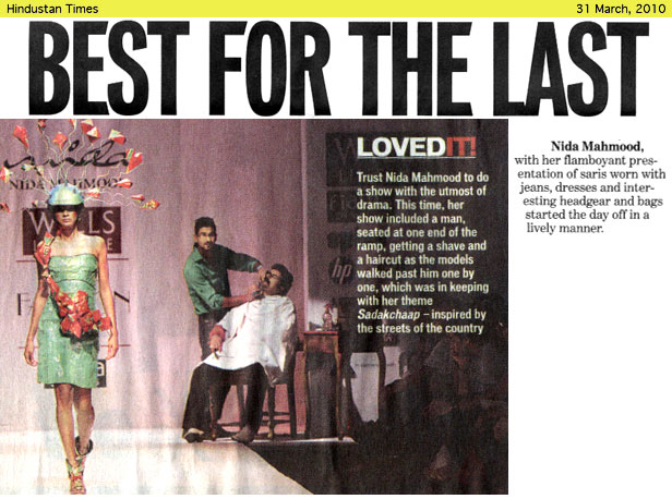 indian-fashion-designer-nida-mahmood-featured-in-HT-City-Delhi-newspaper-for-Sadak-chhap-collection